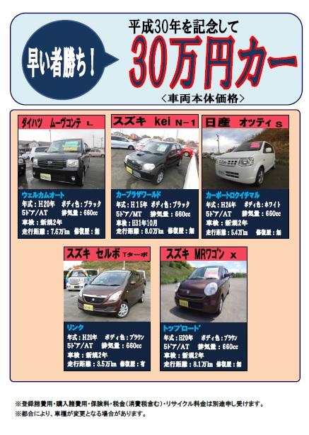 30万円カー①